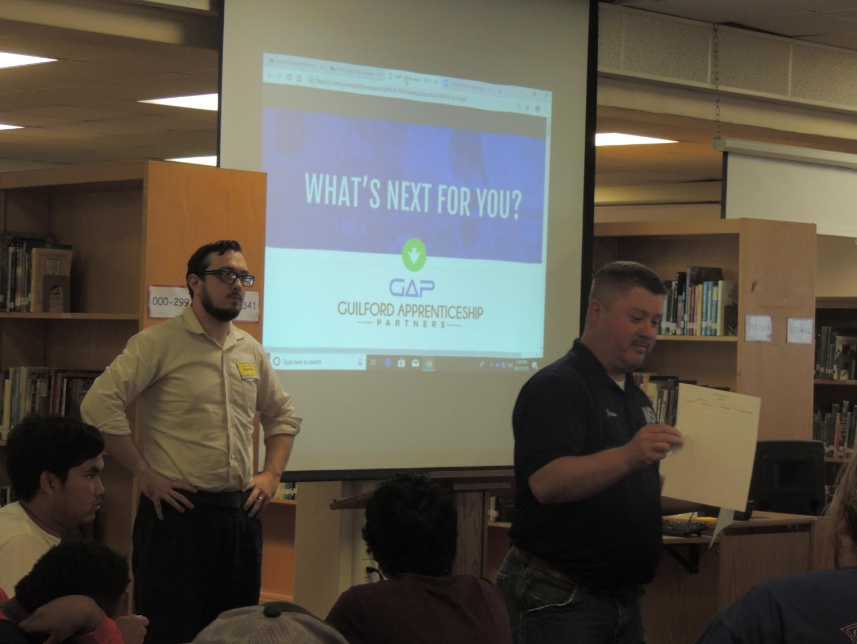 Jaime Trogdon and Peter Shoun starting off the presentation.
